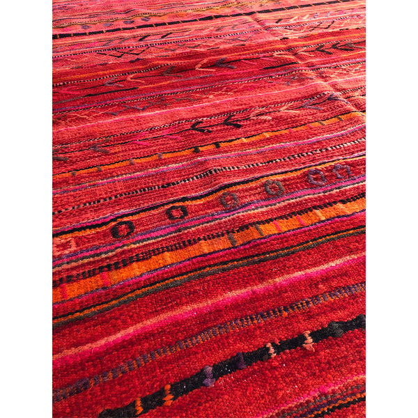Vintage rust colored flatweave berber carpet - Kantara | Moroccan Rugs