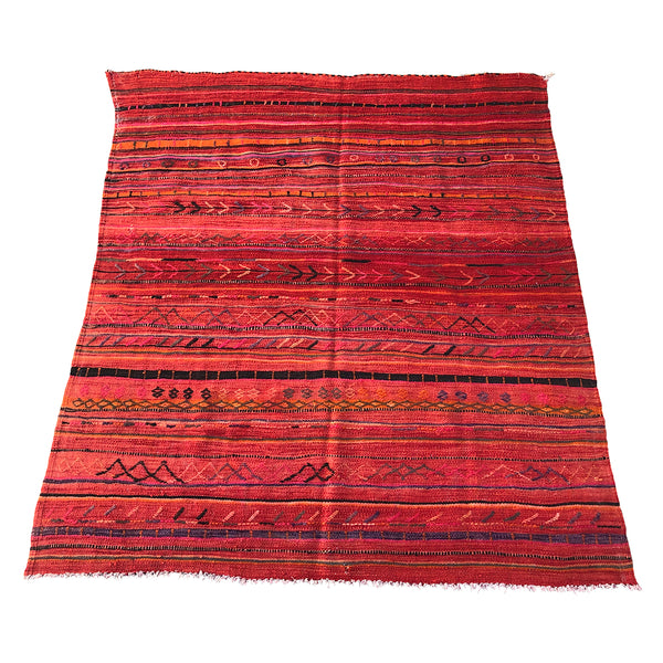 Authentic colorful Moroccan flat weave rug - Kantara | Moroccan Rugs
