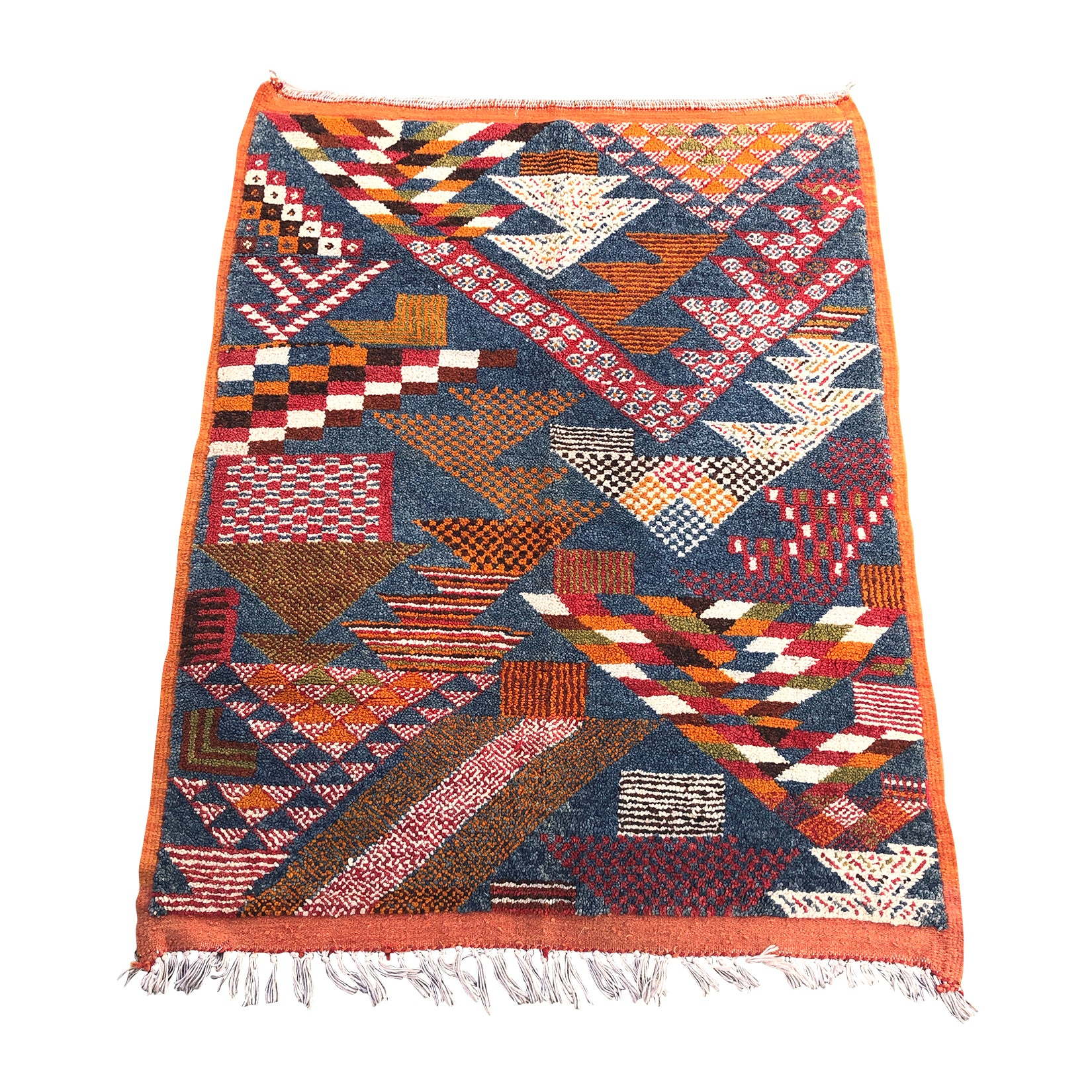 TAZ - Ait Ouaouzguite low pile Moroccan Map rug - Kantara | Moroccan Rugs