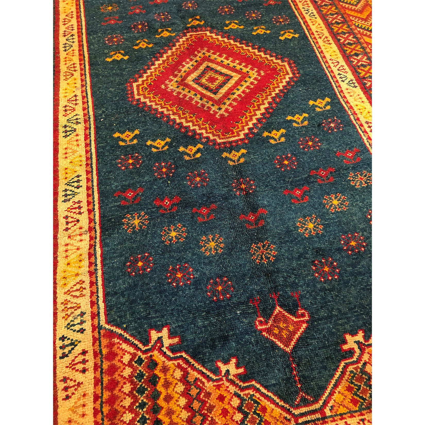 Authentic low pile rust colored berber carpet - Kantara | Moroccan Rugs