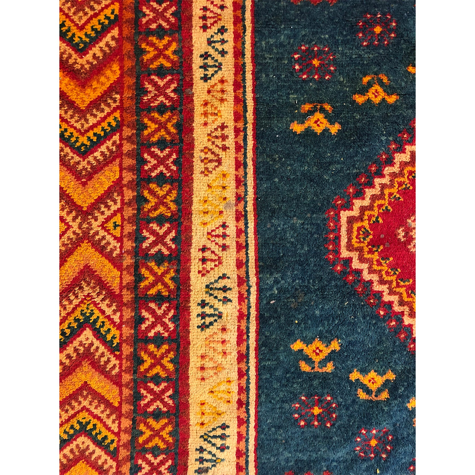 Authentic rust colored Moroccan tribal rug - Kantara | Moroccan Rugs
