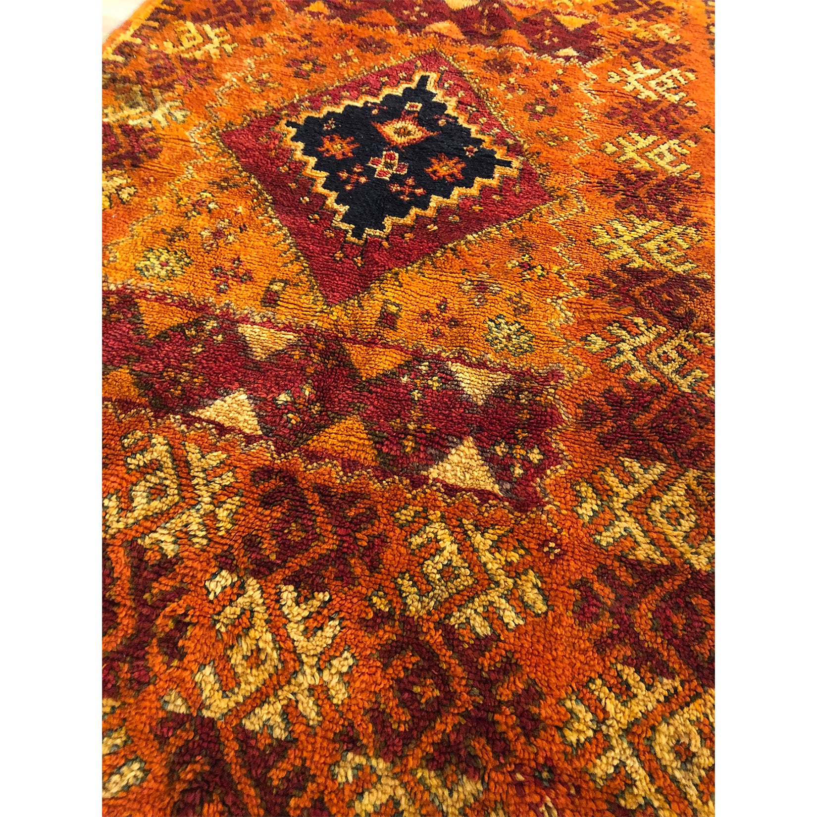 Traditional tribal geometric pattern design berber rug - Kantara | Moroccan Rugs