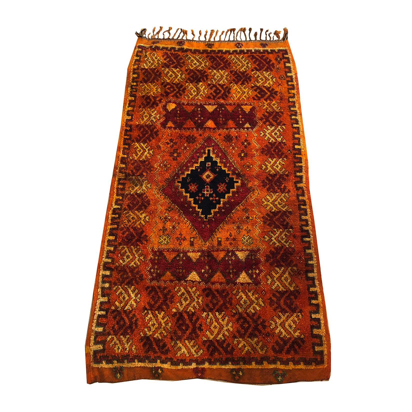 Authentic Moroccan red vintage rug - Kantara | Moroccan Rugs