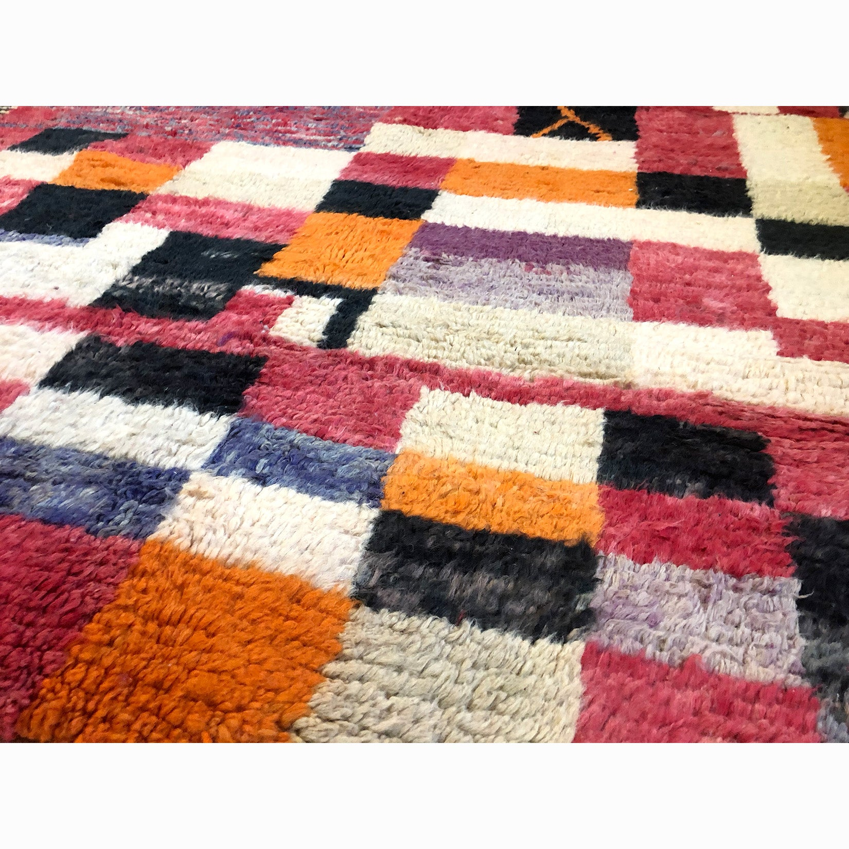 Colorful authentic art deco berber carpet - Kantara | Moroccan Rugs