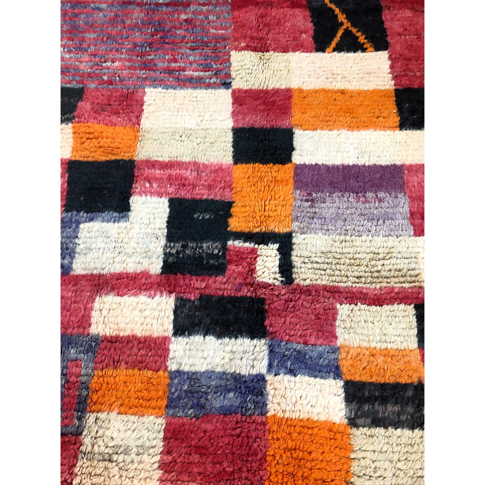 Colorful art deco wool Moroccan area rug - Kantara | Moroccan Rugs