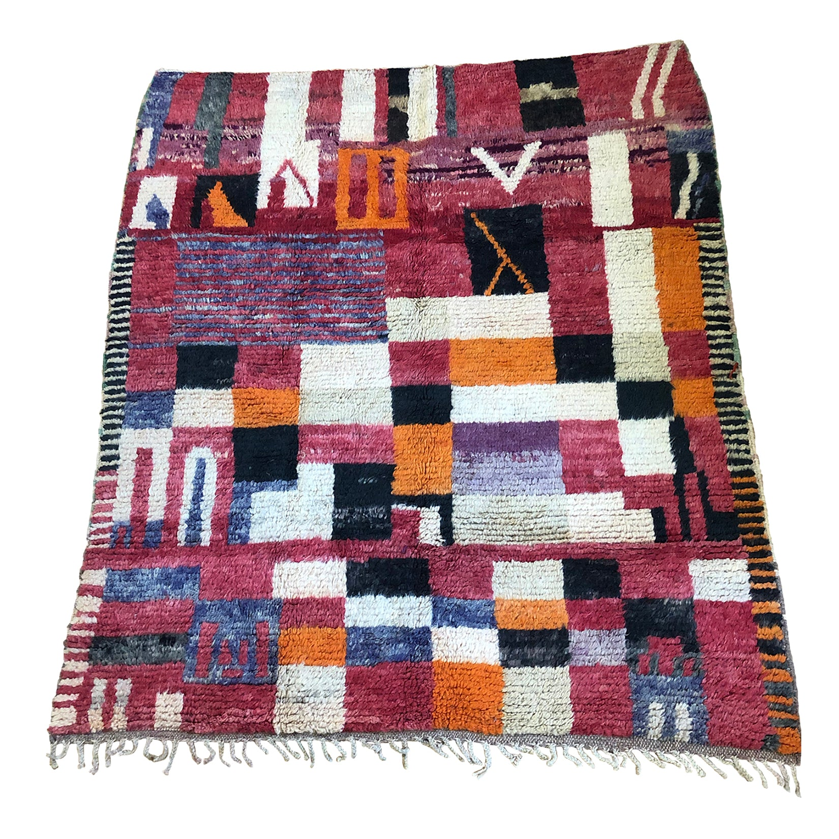 Authentic colorful vintage Moroccan rug - Kantara | Moroccan Rugs