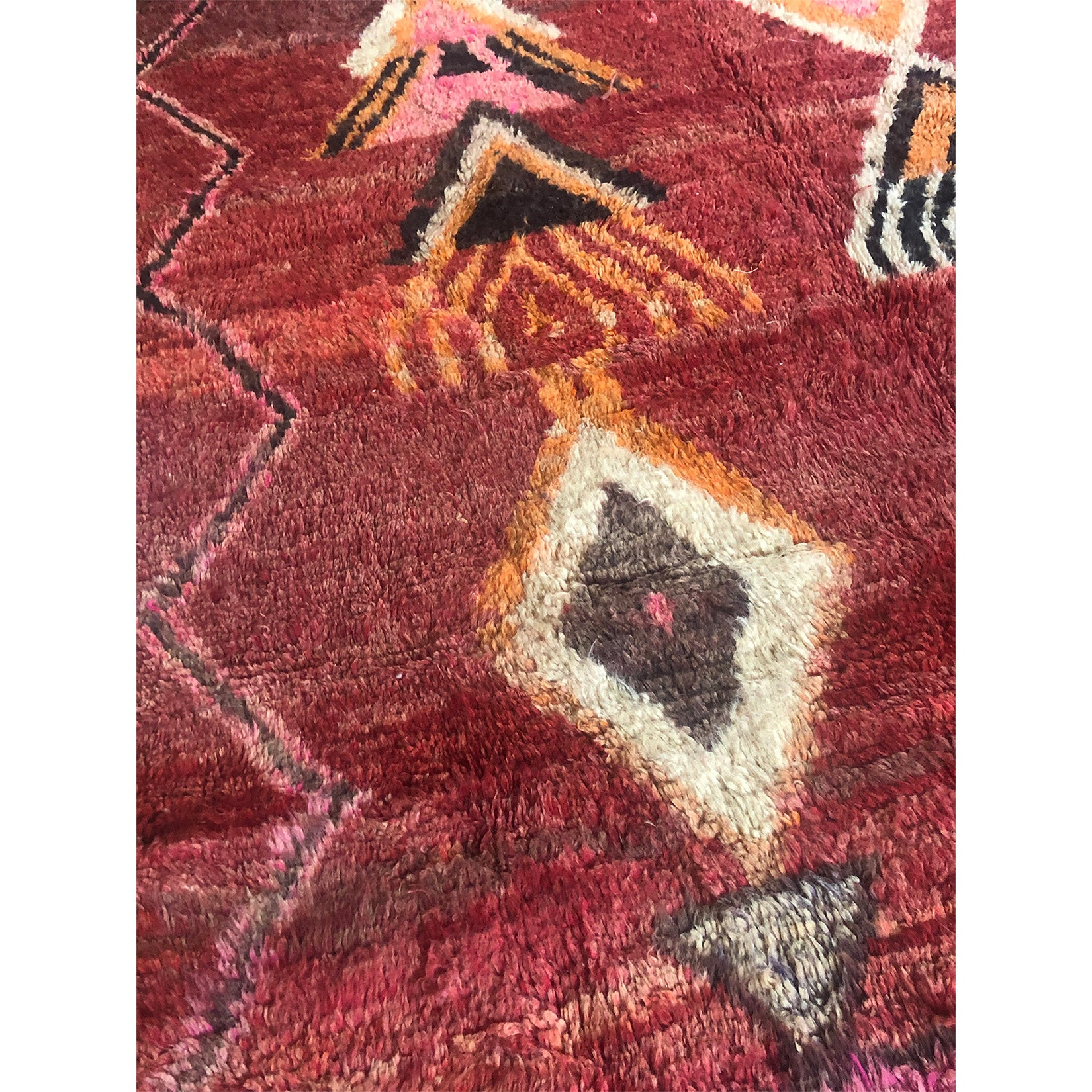 Colorful purple vintage Moroccan diamond rug - Kantara | Moroccan Rugs