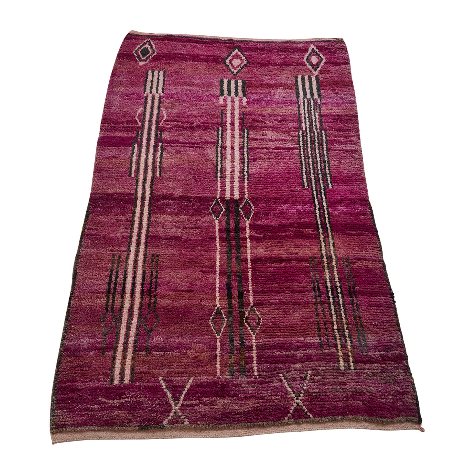 Purple and black Moroccan tribal rug - Kantara | Moroccan Rugs