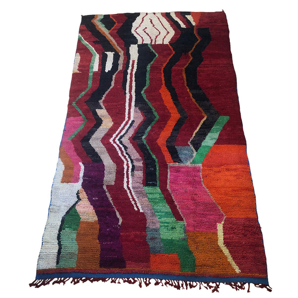 Colorful art deco red vintage rug - Kantara | Moroccan Rugs