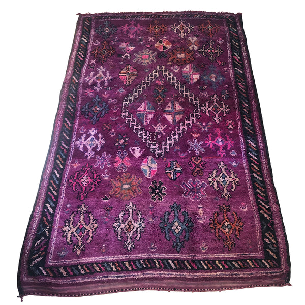 Bohemian vintage purple and black rug - Kantara | Moroccan Rugs