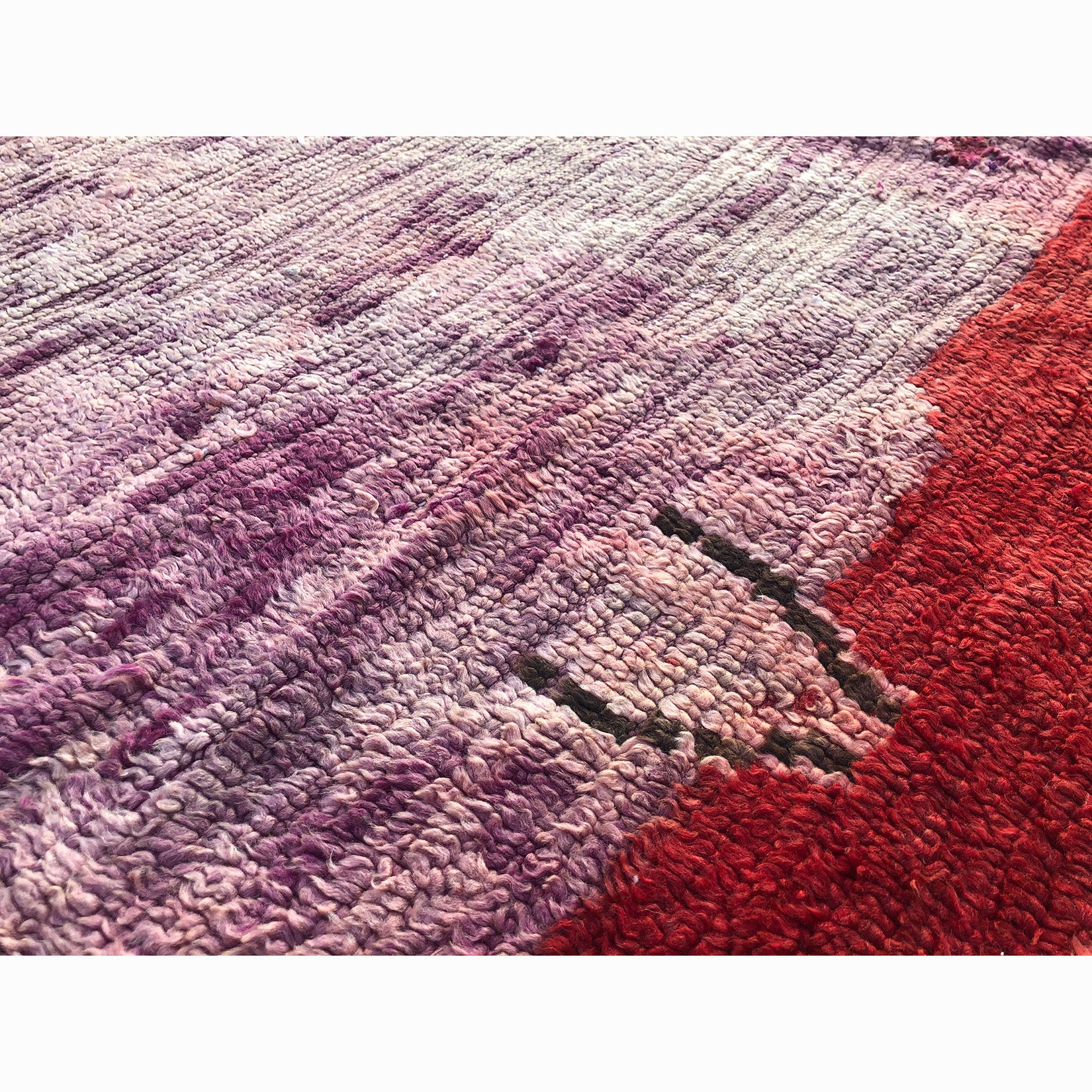 Pink and purple boho berber rug - Kantara | Moroccan Rugs