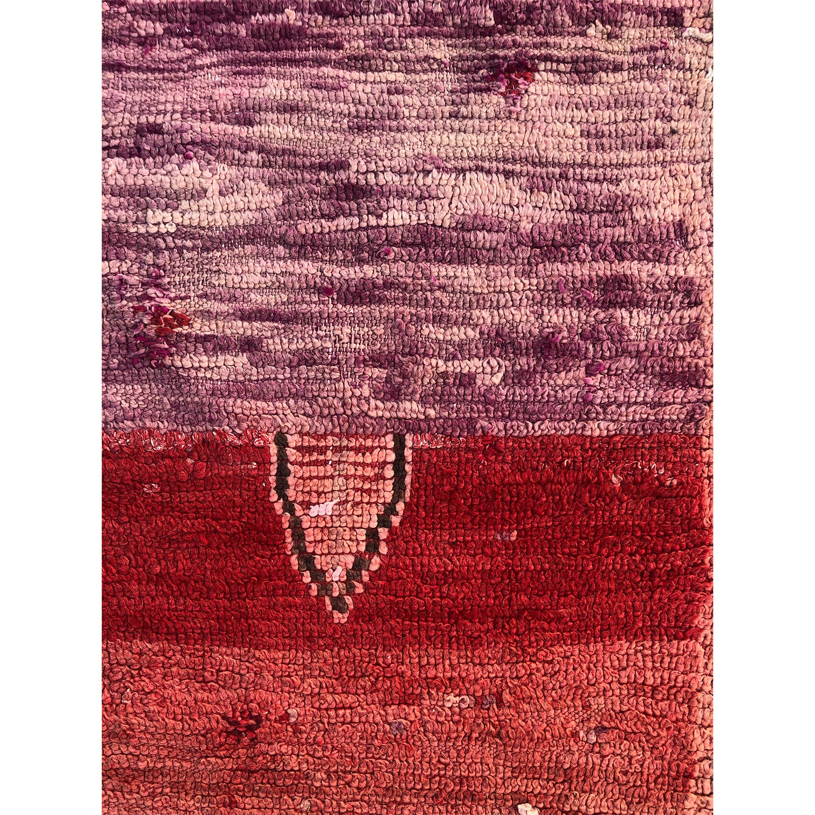 Red pink and purple boho chic Moroccan rug  - Kantara | Moroccan Rugs