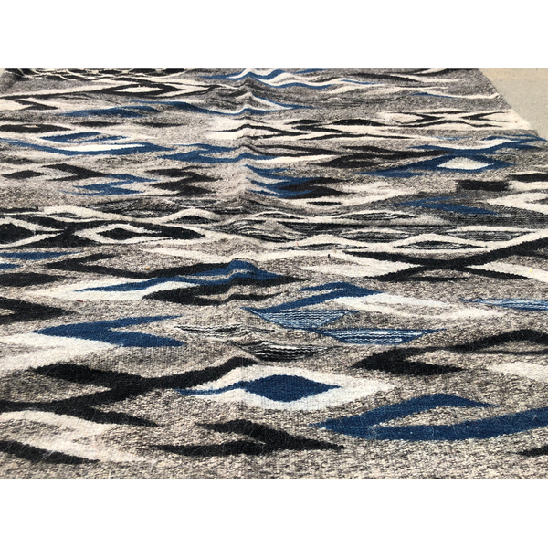 Modern grey and blue Moroccan rug - Kantara | Moroccan Rugs