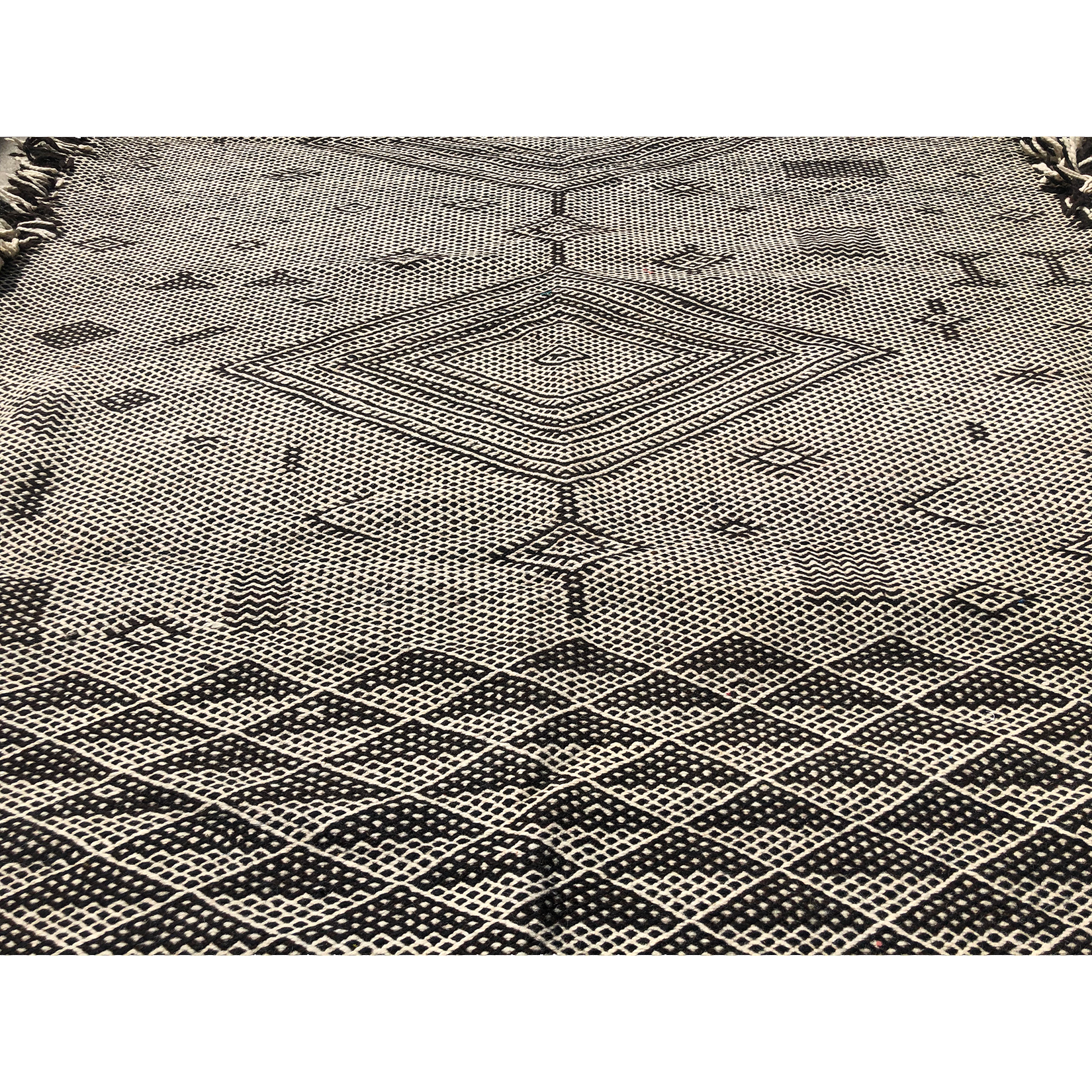 Authentic boho flat weave Moroccan rug - Kantara | Moroccan Rugs