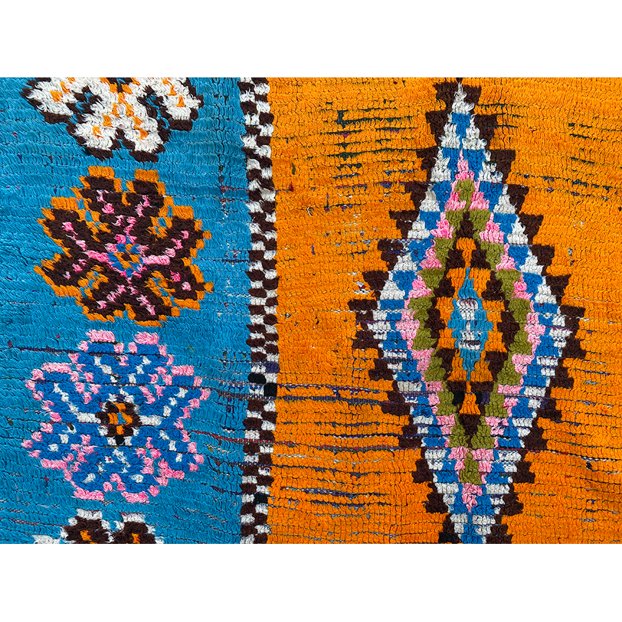Vintage colorful berber carpet - Kantara | Moroccan Rugs