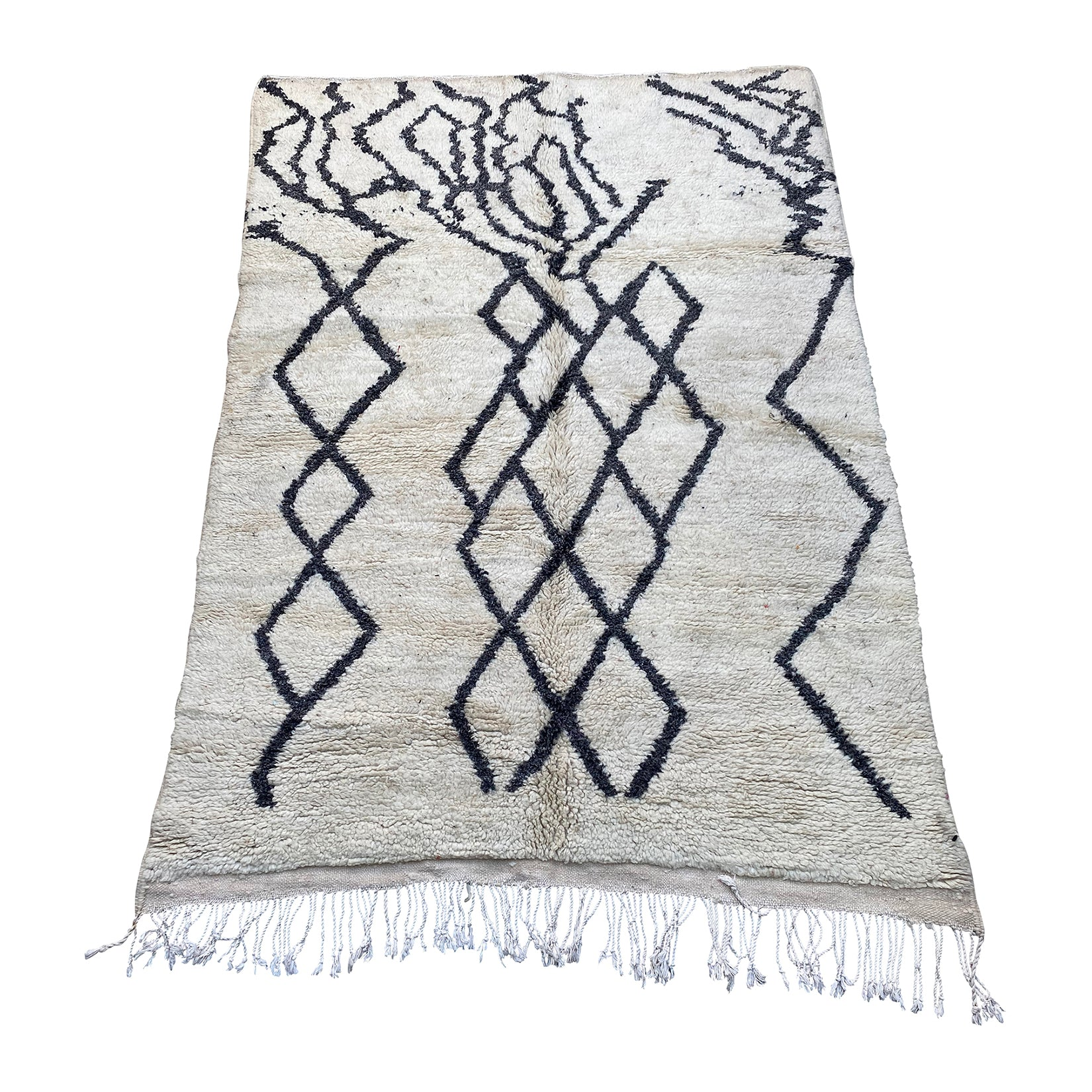 Abstract black and white Moroccan rug - Kantara | Moroccan Rugs