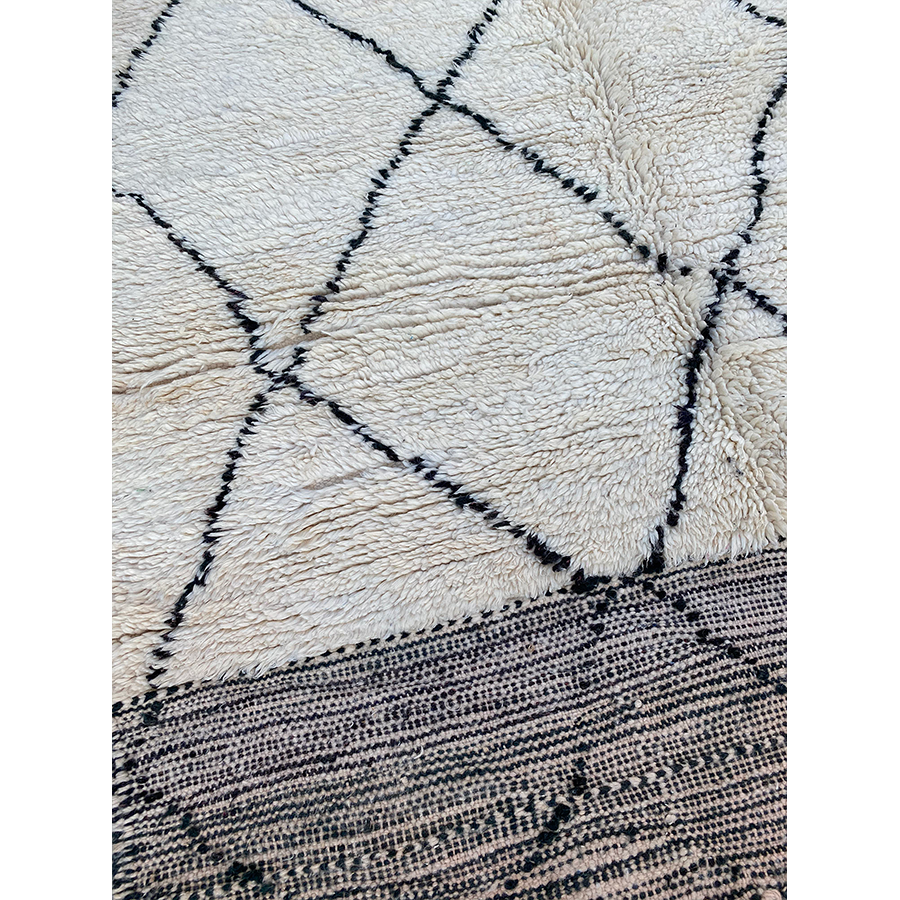 Modern black and white berber carpet - Kantara | Moroccan Rugs