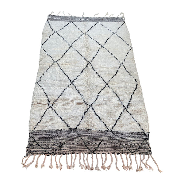 Black and white Moroccan diamond rug - Kantara | Moroccan Rugs