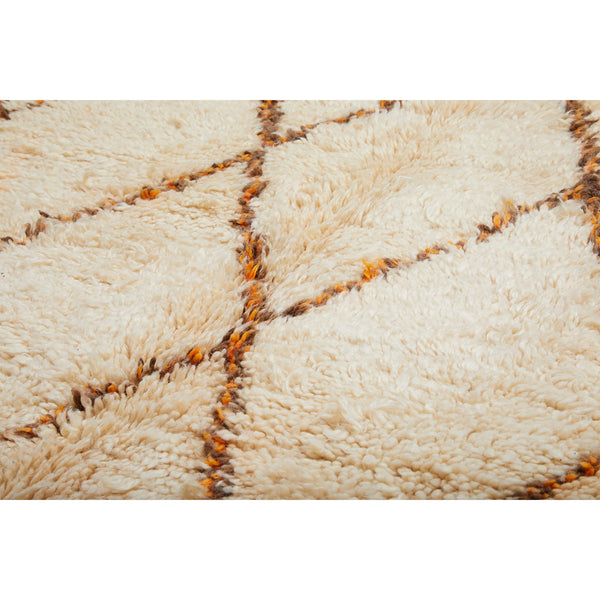 Neutral Moroccan diamond rug - Kantara | Moroccan Rugs