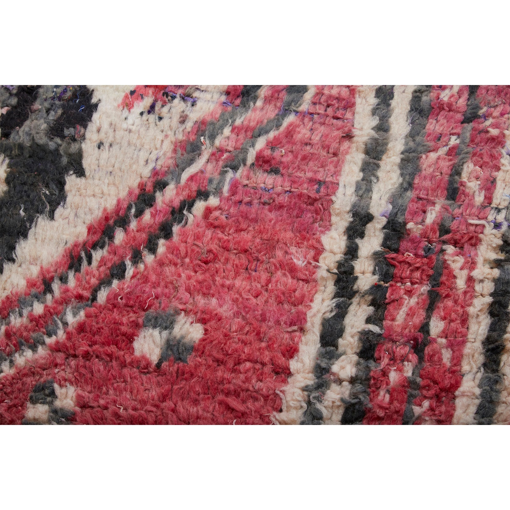 Red tribal Moroccan rug with geometric pattern design - Kantara | Moroccan Rugs