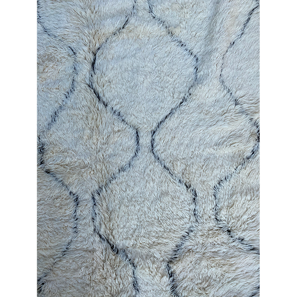 Authentic white Moroccan Beni Ourain rug - Kantara | Moroccan Rugs