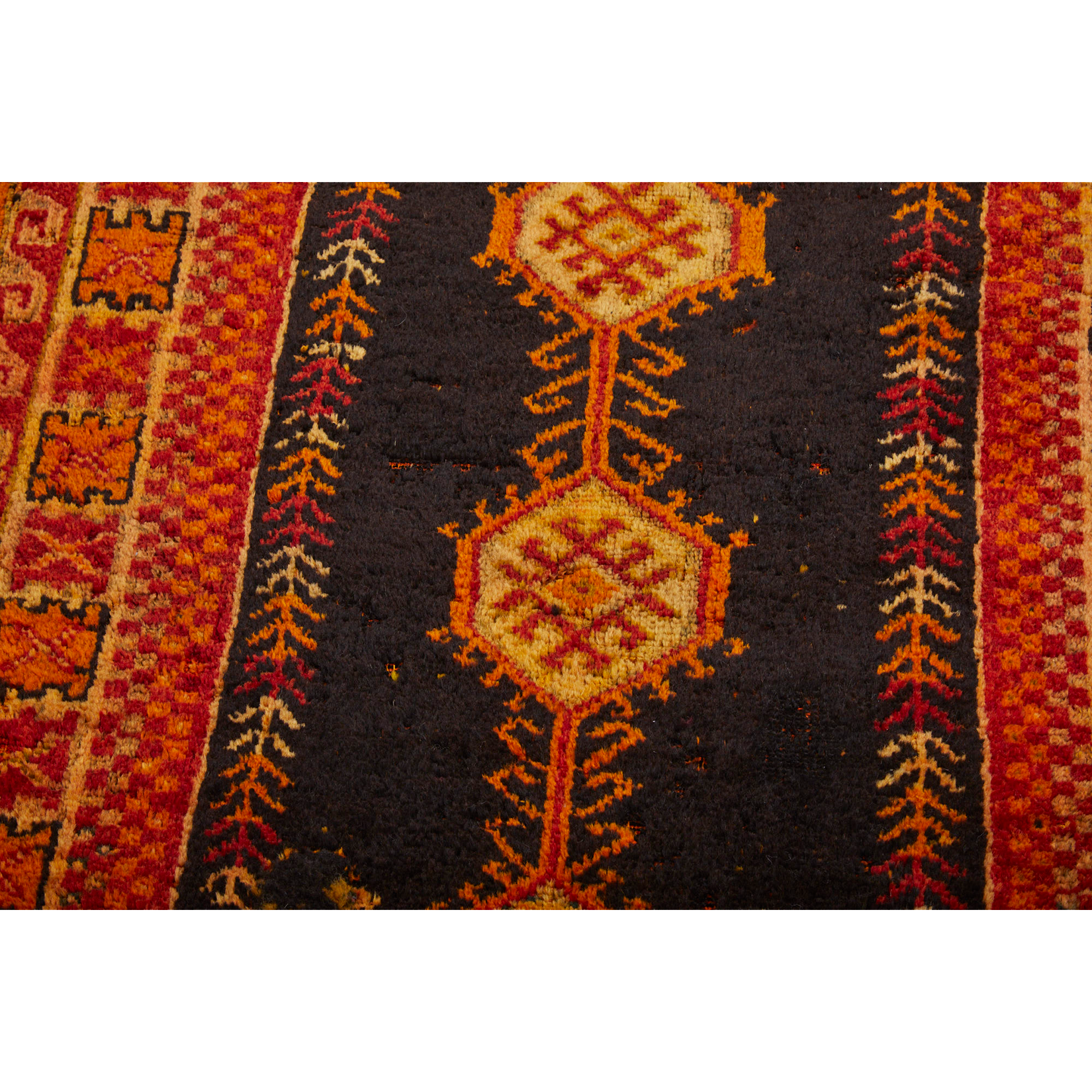 Orange geometric Moroccan berber carpet - Kantara | Moroccan Rugs