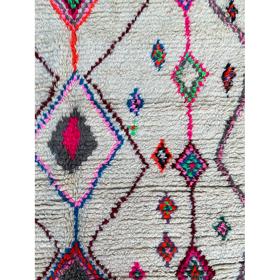 Contemporary white berber carpet  - Kantara | Moroccan Rugs