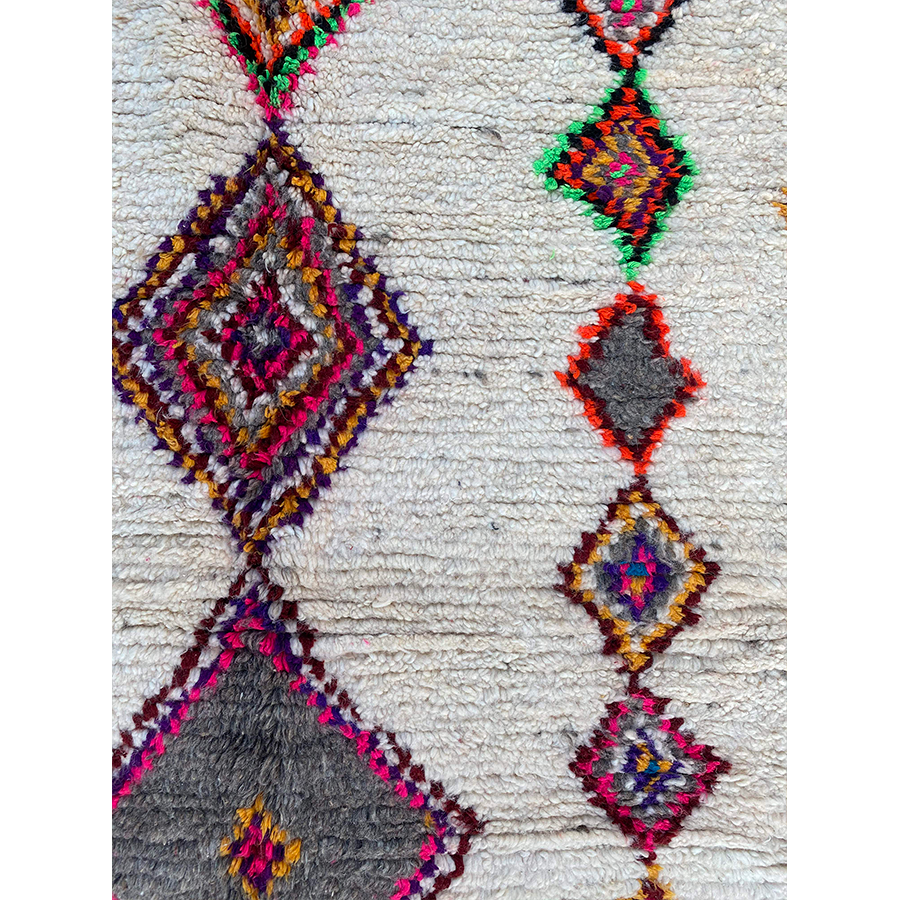 Colorful ourika berber carpet - Kantara | Moroccan Rugs