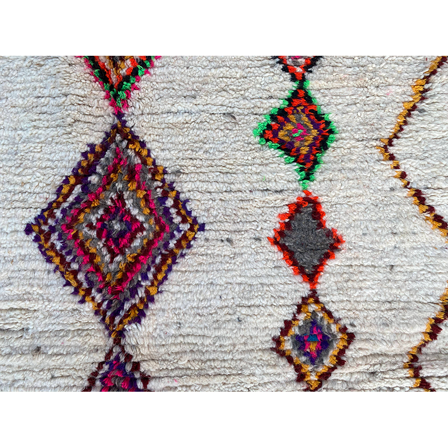 Colorful authentic wool berber carpet - Kantara | Moroccan Rugs