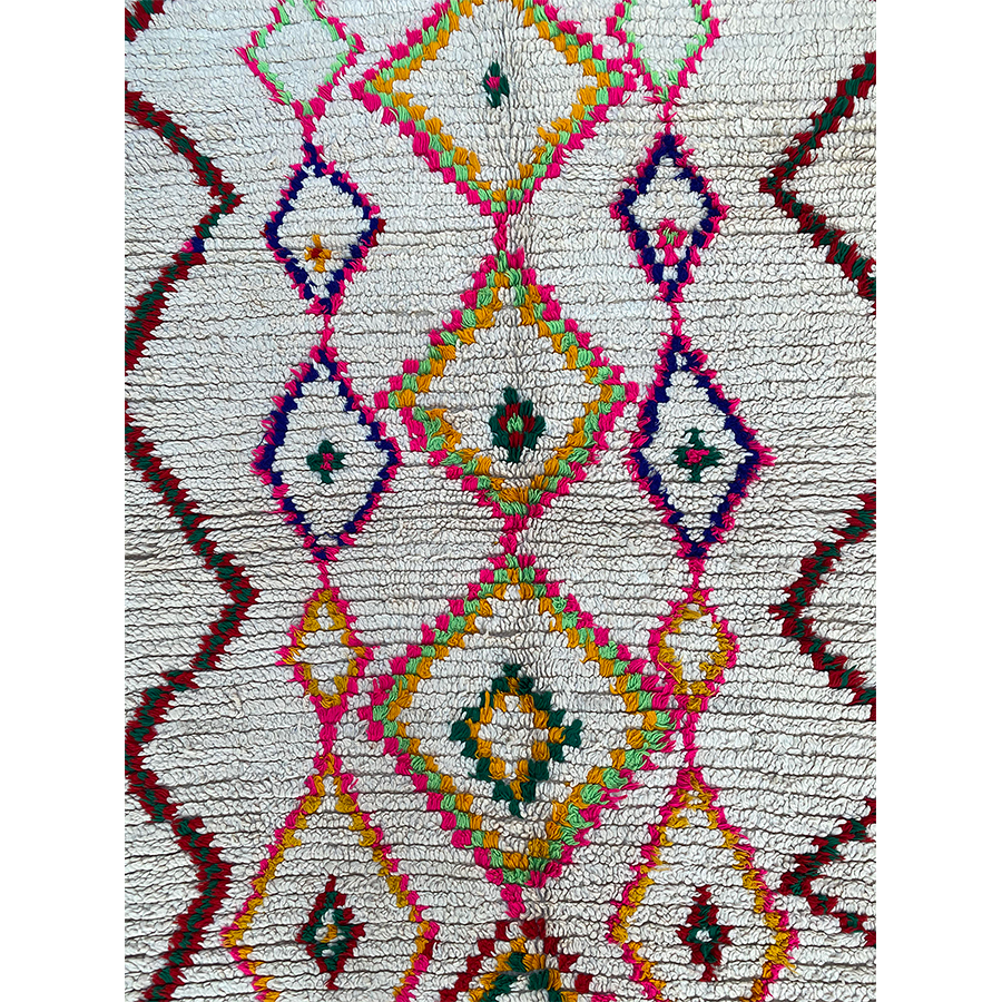 Authentic ourika Moroccan berber carpet  - Kantara | Moroccan Rugs