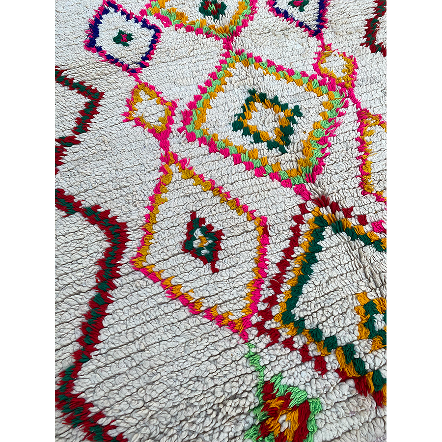 Medium colorful Ourika Moroccan diamong rug  - Kantara | Moroccan Rugs