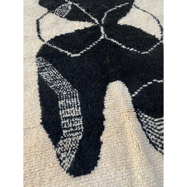 Detail shot of Claudia Pearson Ebb and Flow Moroccan rug
