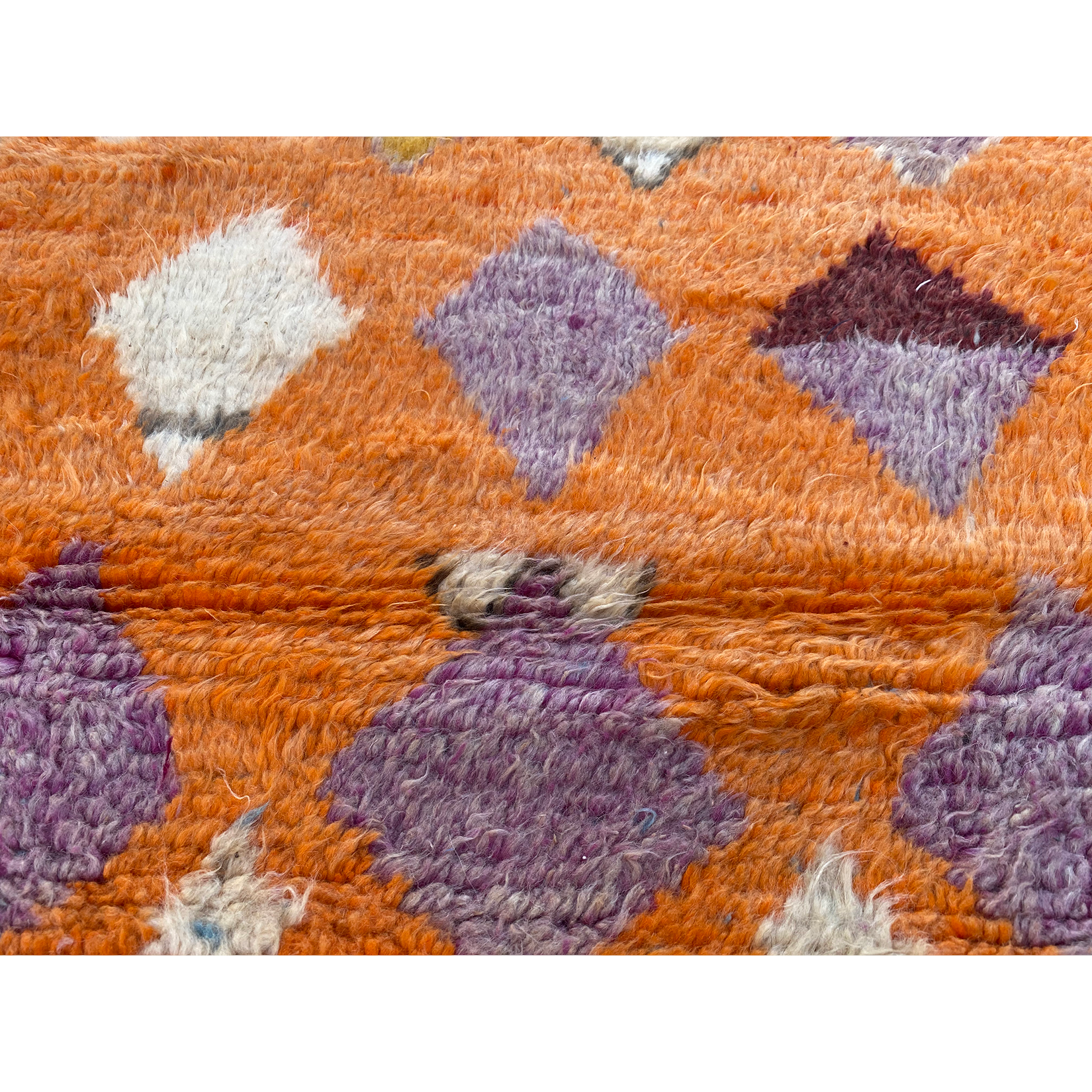 Authentic Boujaad orange Moroccan berber rug - Kantara | Moroccan Rugs