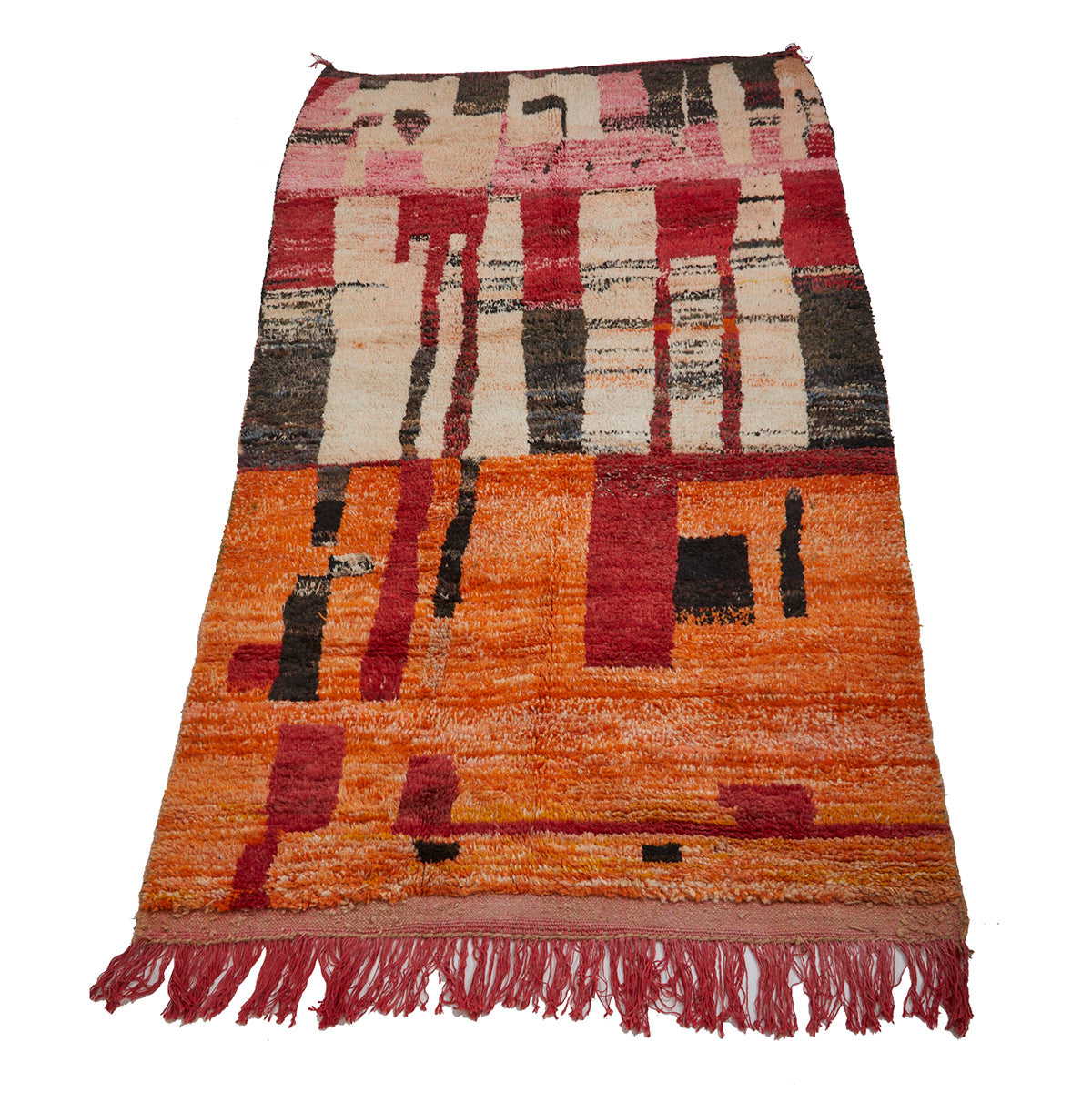 Contemporary pink and orange Moroccan rug - Kantara | Moroccan Rugs