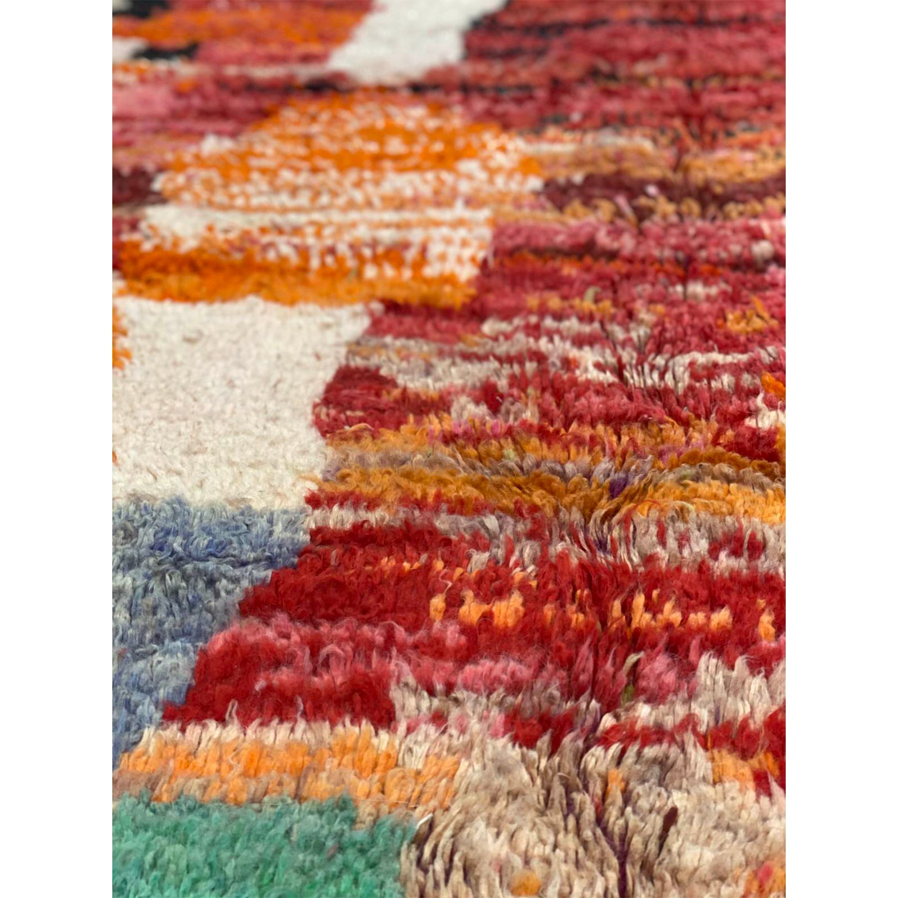 Contemporary Moroccan area rug in warm colors - Kantara | Moroccan Rugs
