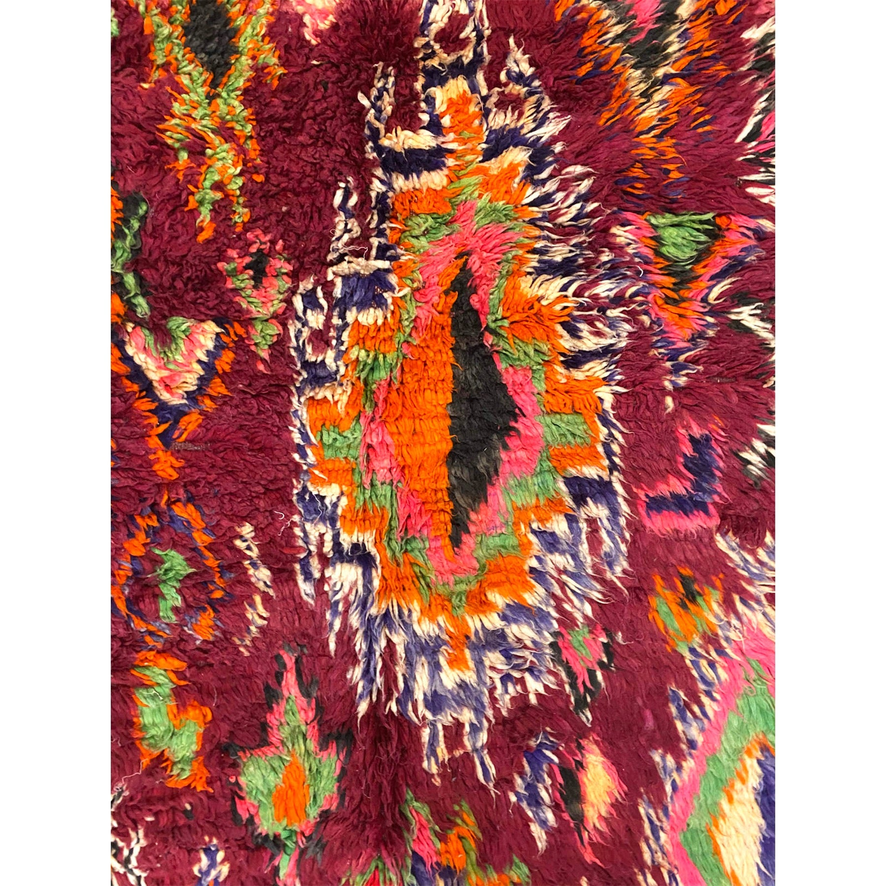Geometric Moroccan area rug with colorful details - Kantara | Moroccan Rugs