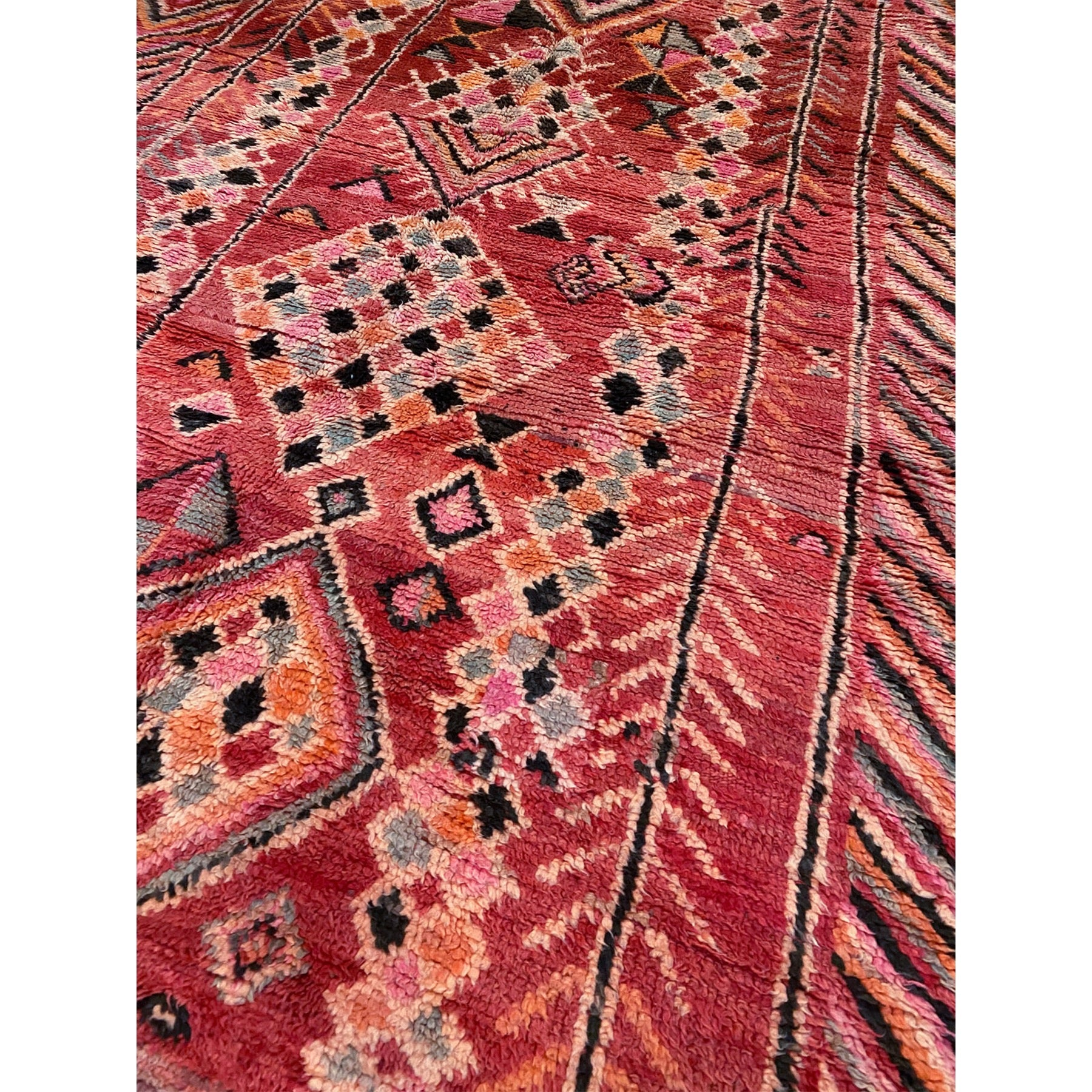 Colorful contemporary Moroccan berber carpet - Kantara | Moroccan Rugs