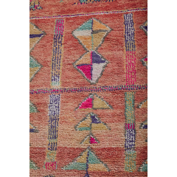 Colorful eclectic Moroccan diamond rug in square shape - Kantara | Moroccan Rugs