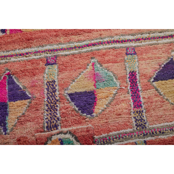 Colorful square shaped Moroccan rug with geometric pattern design - Kantara | Moroccan Rugs