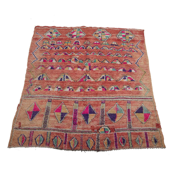 Pink wool contemporary berber carpet - Kantara | Moroccan Rugs