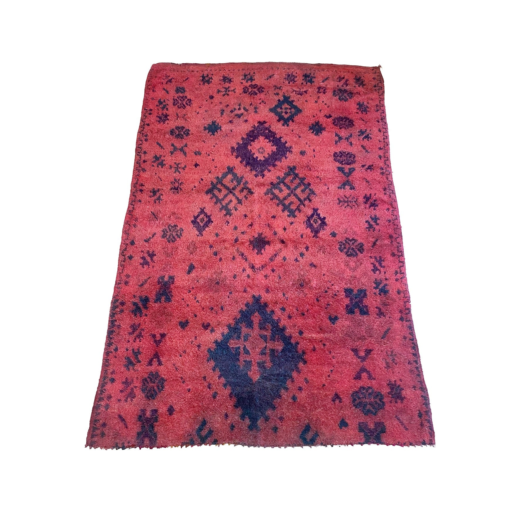 Vintage pink and purple Moroccan berber carpet - Kantara | Moroccan Rugs