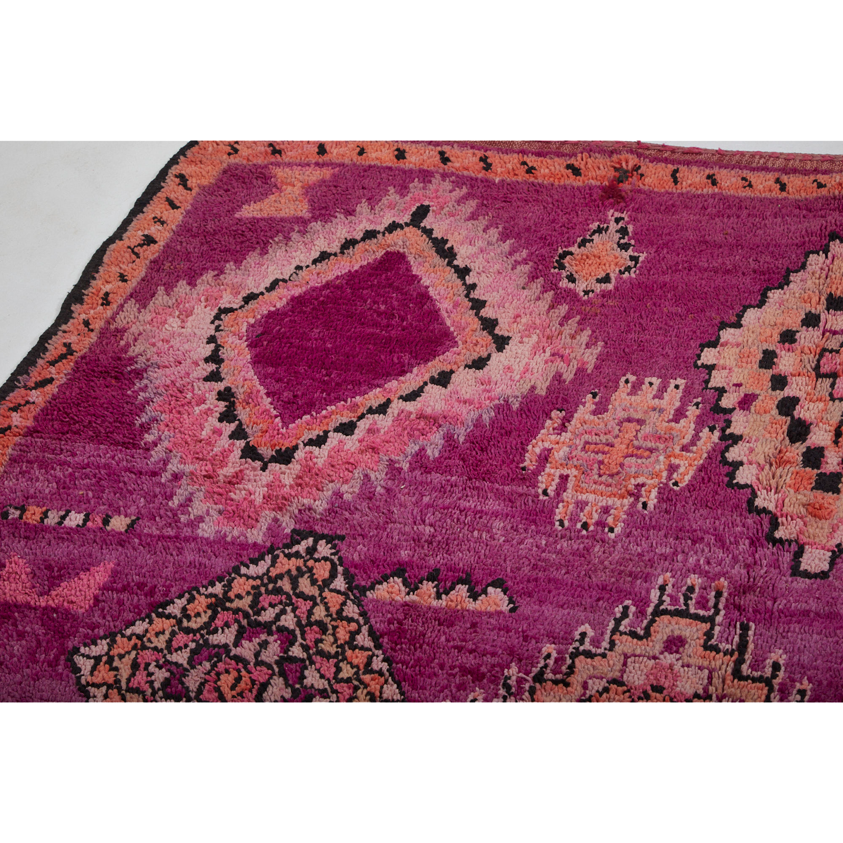 Pink and purple art deco Moroccan berber rug - Kantara | Moroccan Rugs