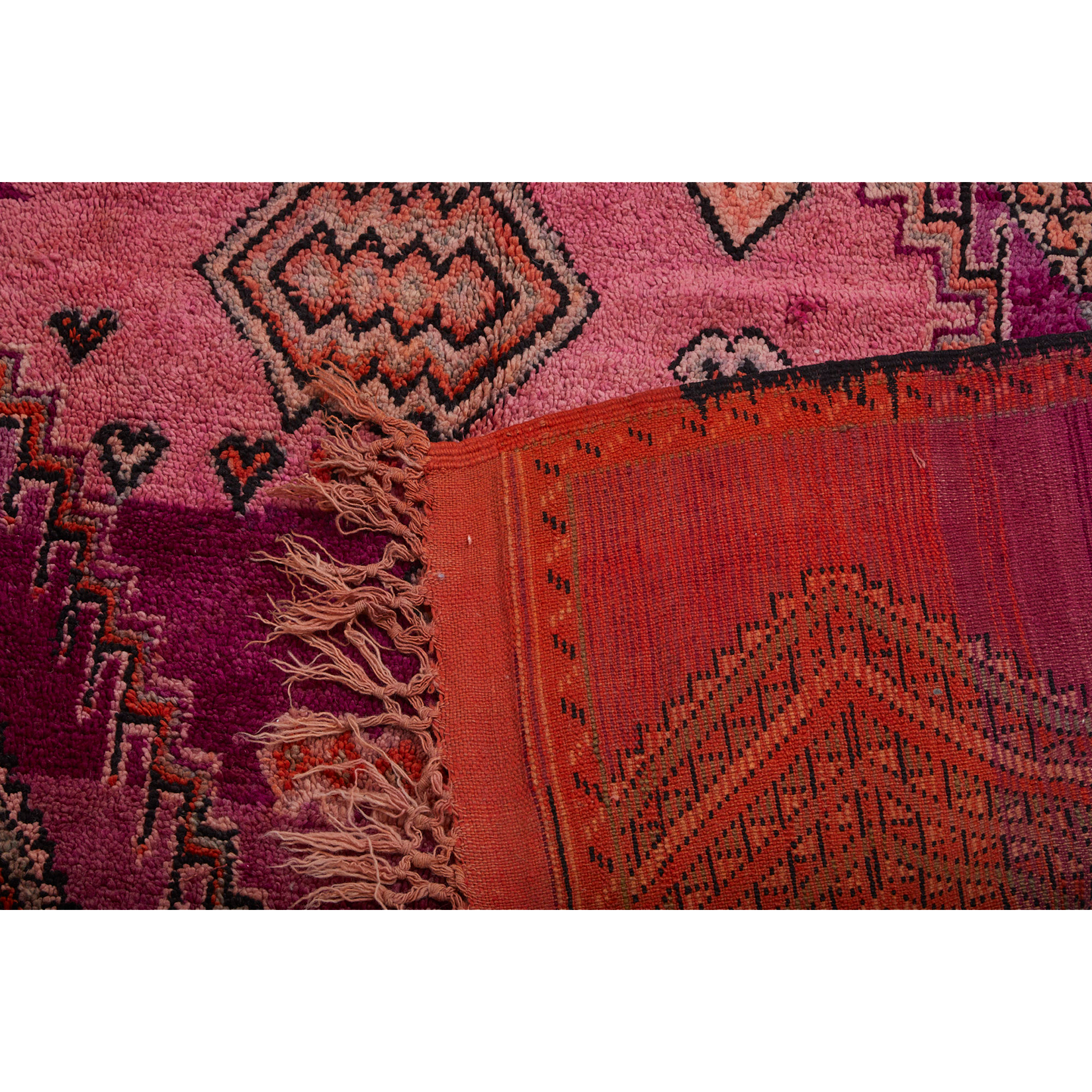 Back side of large purple Moroccan rug - Kantara | Moroccan Rugs