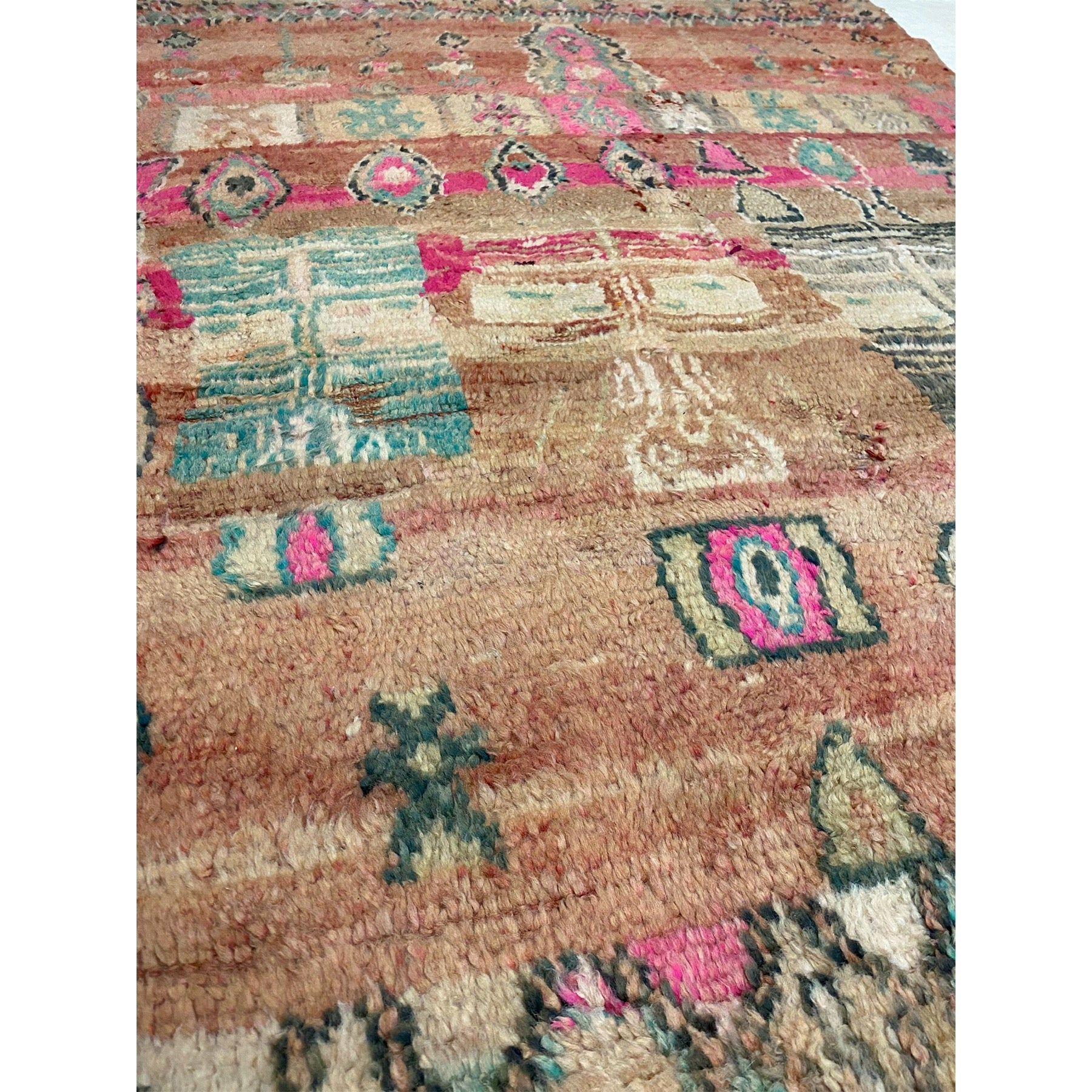 Colorful handknotted Moroccan living room area rug - Kantara | Moroccan Rugs