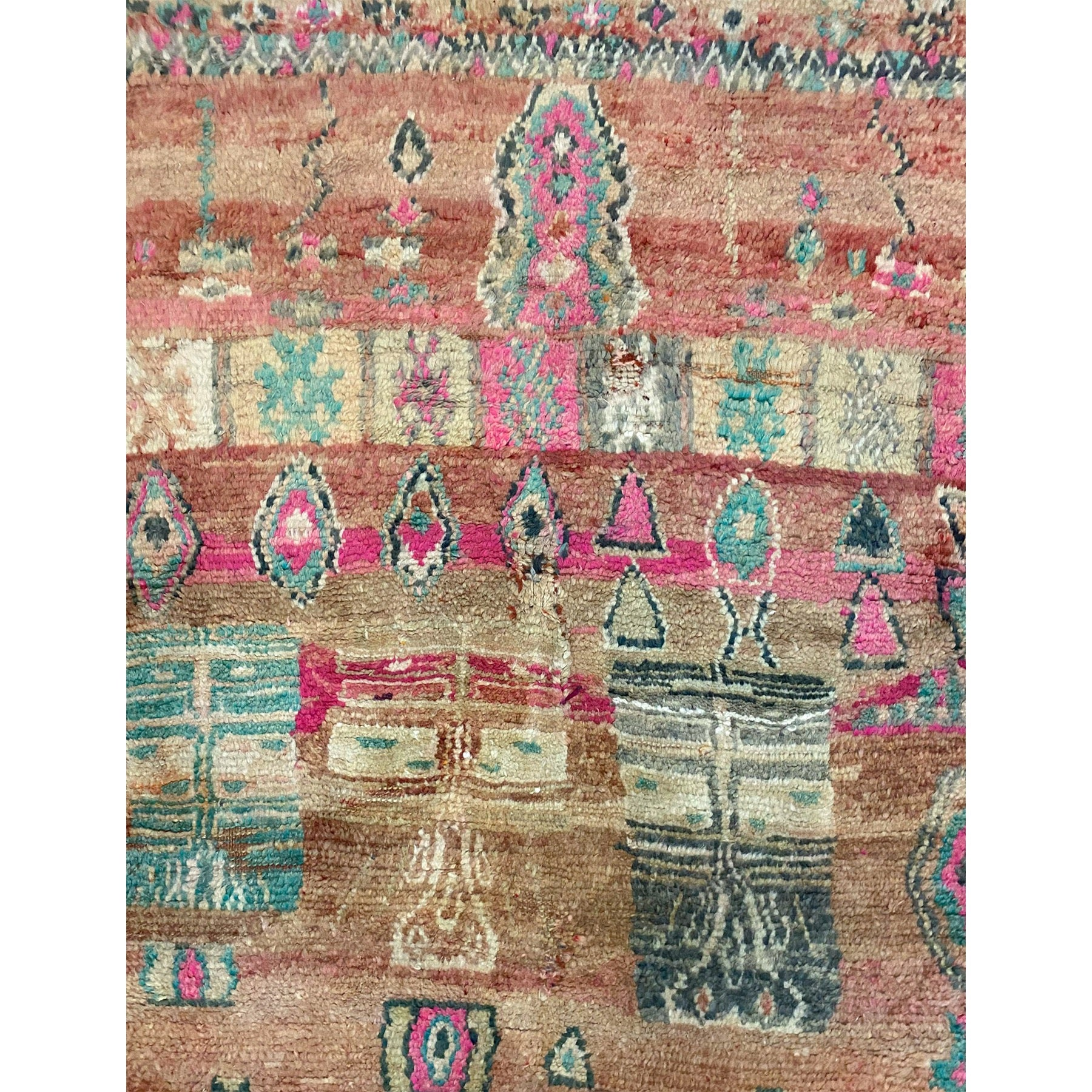Modern colorful wool berber carpet - Kantara | Moroccan Rugs