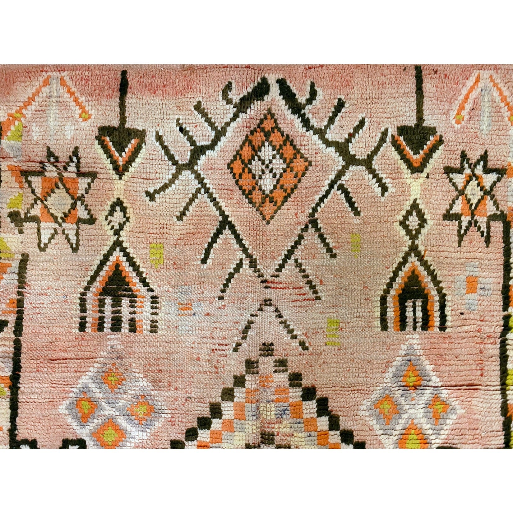Authentic geometric Moroccan boujaad area rug - Kantara | Moroccan Rugs