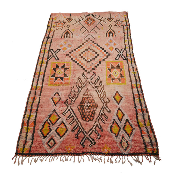 Vintage eclectic Moroccan area rug with intricate details - Kantara | Moroccan Rugs