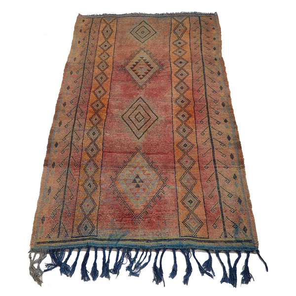 Reversible Moroccan area rug with diamond motifs - Kantara | Moroccan Rugs