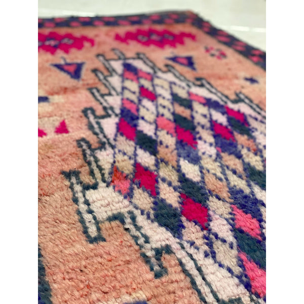 Colorful Moroccan foyer rug with geometric design - Kantara | Moroccan Rugs