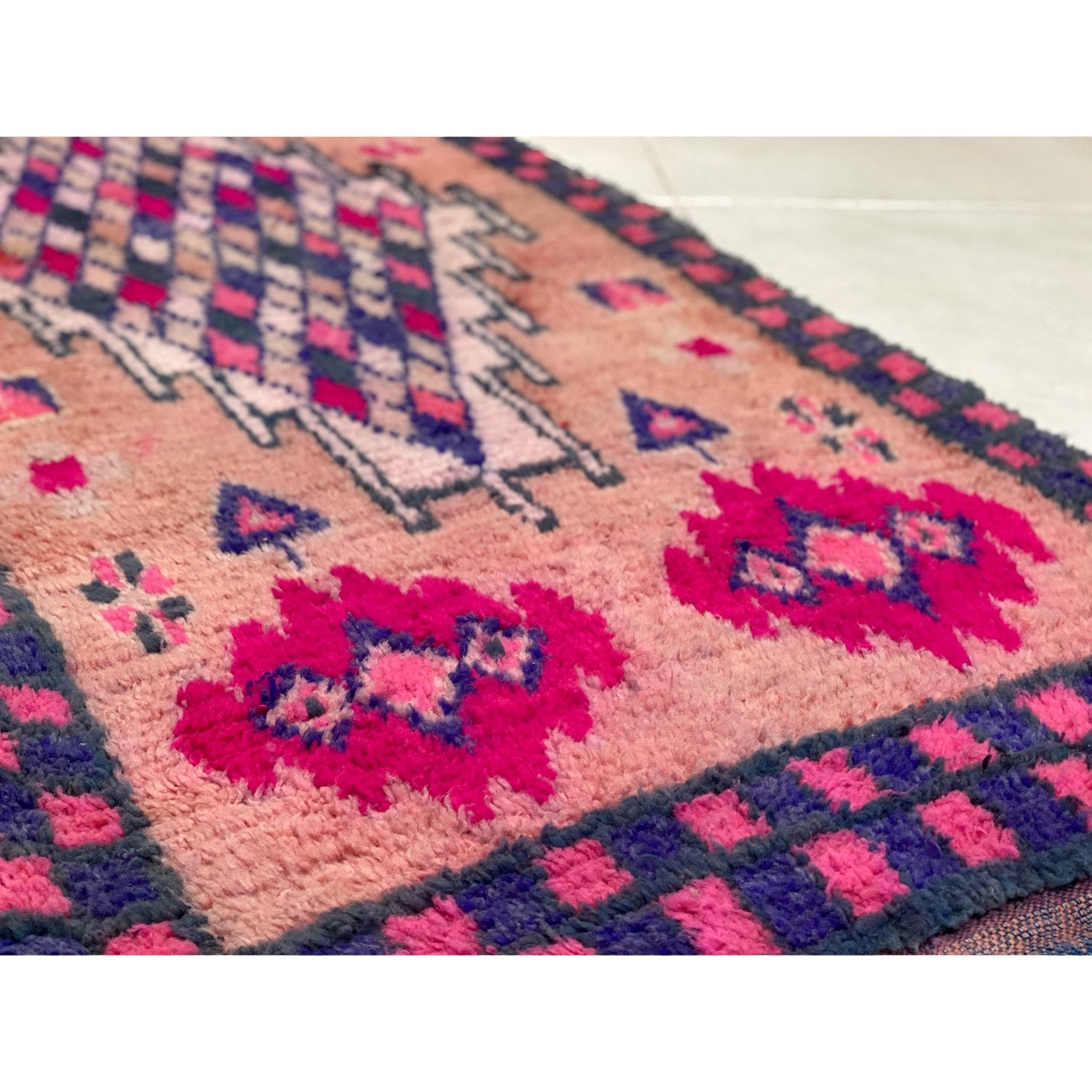 Pink and purple Moroccan kids' room rug - Kantara | Moroccan Rugs